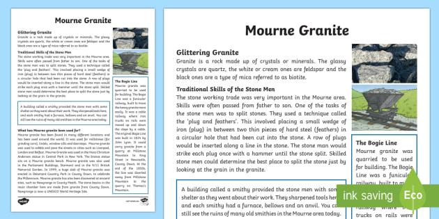 Mourne Granite Fact File - World Around Us, Mourne, granite, mountains, quarry, Northern Ireland, stone, geology