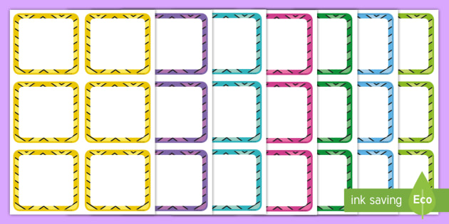 Zig-Zag Themed Drawer Peg Name Labels - equipment, labels, classroom, teacher aids, drawers, notes, cupboards, tool kit, organisation