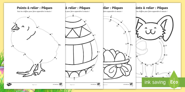 feuille dactivits points relier pques pques paques oeufs - Points A Relier