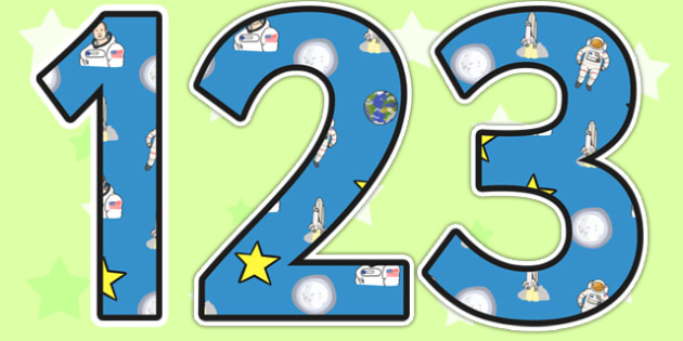 Neil Armstrong Themed Display Numbers - neil armstrong, display numbers, numbers, numbers for display, themed numbers, classroom display, display