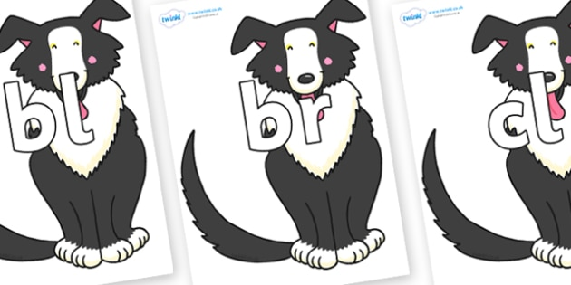Initial Letter Blends on Hullabaloo Sheepdog to Support Teaching on Farmyard Hullabaloo - Initial Letters, initial letter, letter blend, letter blends, consonant, consonants, digraph, trigraph, literacy, alphabet, letters, foundation stage literacy