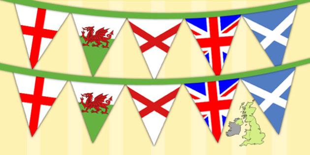 Union Jack Flags Display Bunting - display bunting, union jack