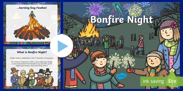 EYFS All About Bonfire Night PowerPoint - fireworks, EYFS