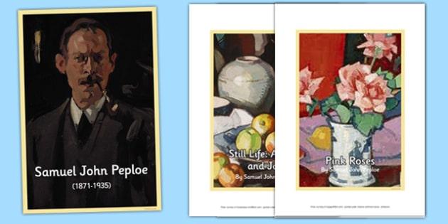 Scottish Artist Samuel John Peploe Photo Pack - cfe, scottish, artist, photo pack, photo, pack, samuel john peploe