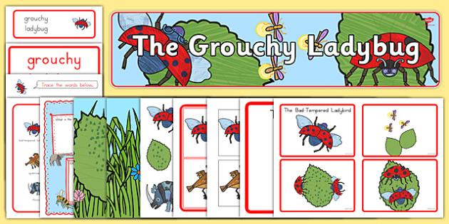The Grouchy Ladybug Story Sack - usa, america, the grouchy ladybug, story sack