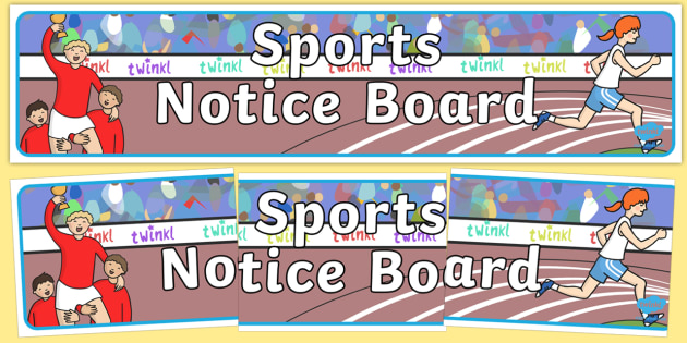 Sports Notice Board Display Banner - sports notice board, display banner, banner for display, banner, header, header for display, display header