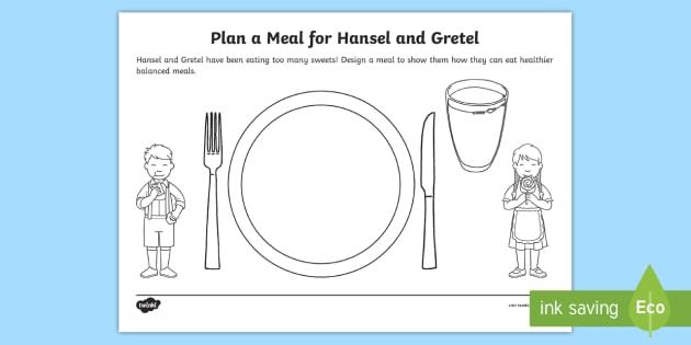Healthy Eating Design a Meal for Hansel and Gretel Worksheet ...