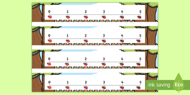 photo about Printable Number Lines to 20 identified as Ladybird 0-5 Variety Line - Printable Range Strains In the direction of 20