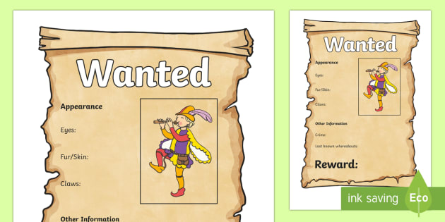 The Pied Piper Wanted Poster - pied piper, wanted poster, poster