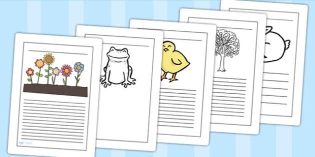Spring Writing Frames - spring, seasons, writing, write, literacy