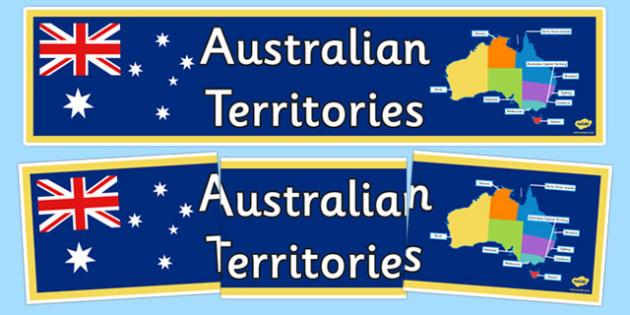 Australian Territories Banner - australia, States and Territories, display
