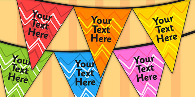Editable Patterned Bunting Zig Zag - patterned bunting, bunting, themed bunting, editable bunting, classroom display, display bunting, zig zag bunting