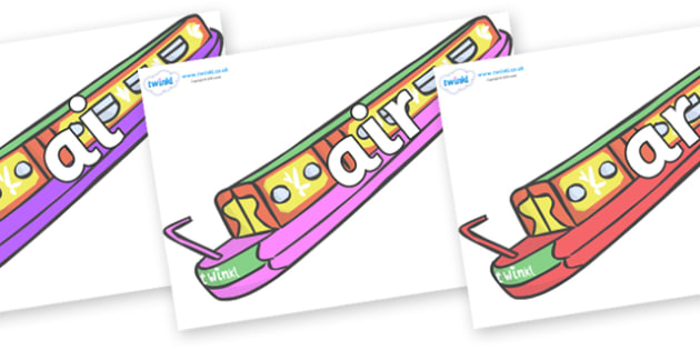 Phase 3 Phonemes on Narrow Boats - Phonemes, phoneme, Phase 3, Phase three, Foundation, Literacy, Letters and Sounds, DfES, display