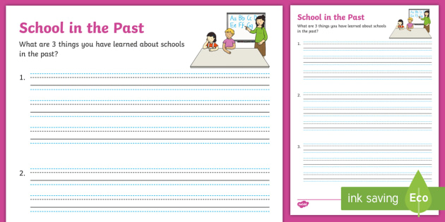 School in the Past Review Learning Worksheet / Worksheet ...