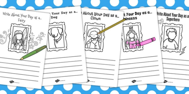Write About Your Day as a Activity Sheet - activity, sheet, day, worksheet