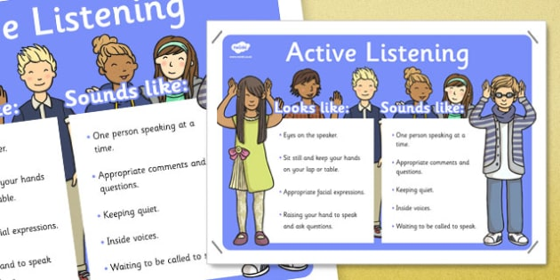 Speaking and Listening Skills Poster - behaviour management