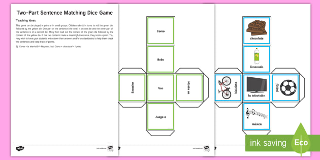 Two part sentence matching game spanish vocabulary ks2 two part sentence matching game spanish vocabulary ks2 two part ccuart Images
