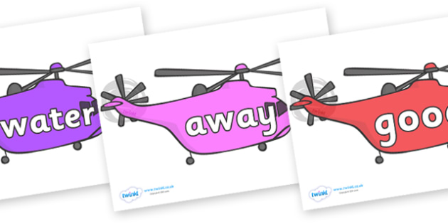 Next 200 Common Words on Helicopters - Next 200 Common Words on  - DfES Letters and Sounds, Letters and Sounds, Letters and sounds words, Common words, 200 common words