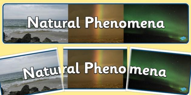 Natural Phenomena Display Banner - display, banner, natural