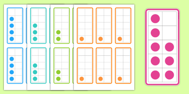 Tens Frame Flashcards