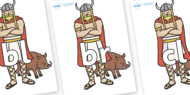 Initial Letter Blends on Vikings - Initial Letters, initial letter, letter blend, letter blends, consonant, consonants, digraph, trigraph, literacy, alphabet, letters, foundation stage literacy