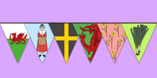 St Davids Day Bunting - st david, st davids day, bunting, display