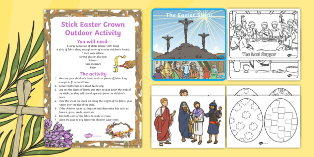 Childminder Easter Story Resource Pack - Easter, display, EYFS, activities, last supper