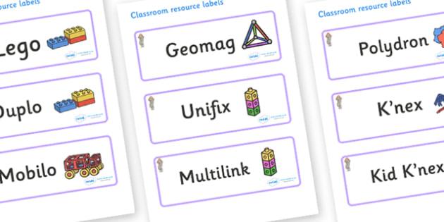 Selkie Themed Editable Construction Area Resource Labels - Themed Construction resource labels, Label template, Resource Label, Name Labels, Editable Labels, Drawer Labels, KS1 Labels, Foundation Labels, Foundation Stage Labels