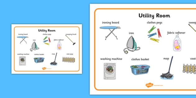 Utility Room Word Mat - utility room, word mat, word, mat, utility, room
