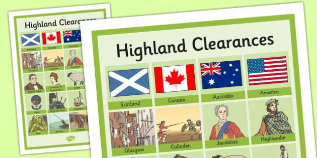 The Highland Clearances Key Vocabulary Mat - highland clearances