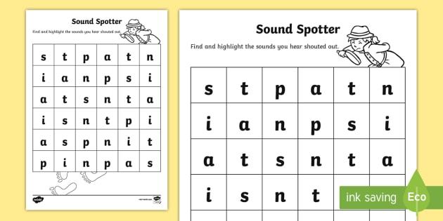sound spotter worksheet worksheet back to school junior infants. Black Bedroom Furniture Sets. Home Design Ideas