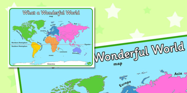 What a Wonderful World Display Poster - display, poster, world