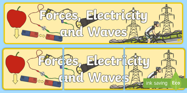 Forces Electricity and Waves Display Banner CfE - display, banner