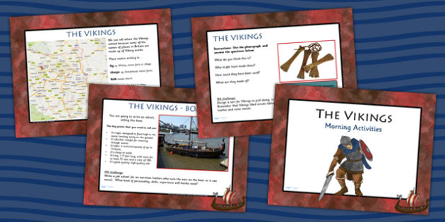 1 Week Viking Topic Morning Activities UKS2 - vikings, history