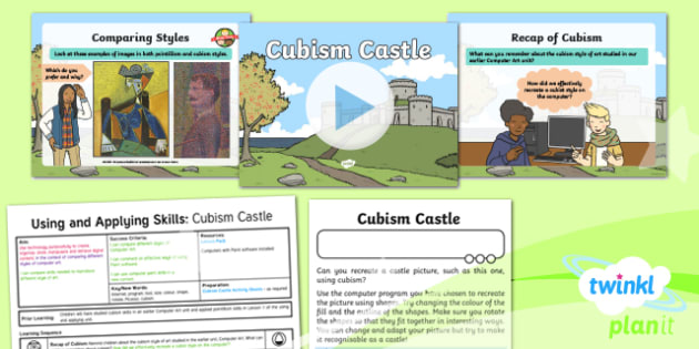 Computing: Using and Applying Skills: Cubism Castle Year 2 Lesson Pack 2
