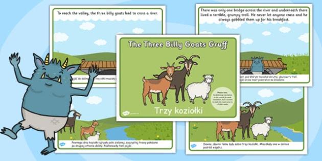 The Three Billy Goats Gruff Story Polish Translation - polish