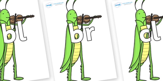 Initial Letter Blends on Grasshopper - Initial Letters, initial letter, letter blend, letter blends, consonant, consonants, digraph, trigraph, literacy, alphabet, letters, foundation stage literacy