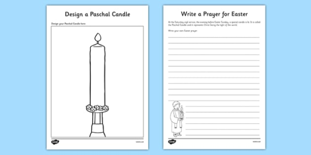 Design a Paschal Candle Activity Resource Creation - Paschal Candle, Easter, procession, Jesus