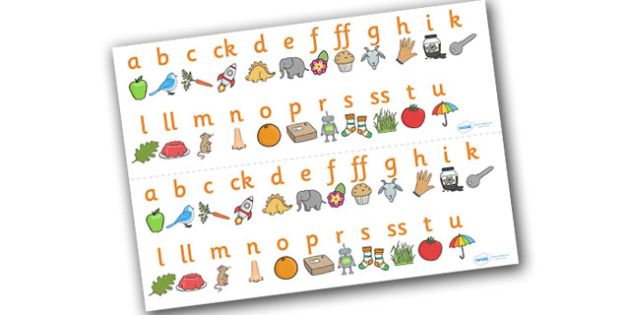 Phase 2 Sound Strips - Sound strip, Letters and Sounds, DfES Letters and Sounds, Phase 2, Phase two, Foundation, Literacy, Mnemonic Images