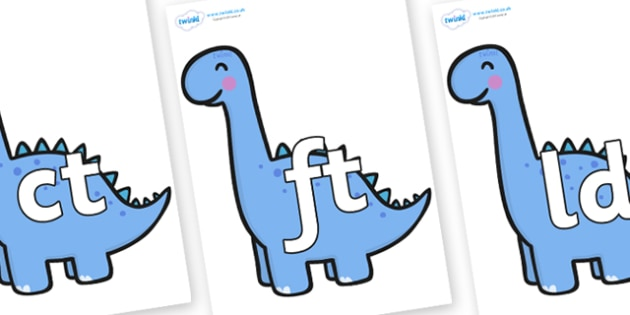 Final Letter Blends on Diplodocus Dinosaurs - Final Letters, final letter, letter blend, letter blends, consonant, consonants, digraph, trigraph, literacy, alphabet, letters, foundation stage literacy