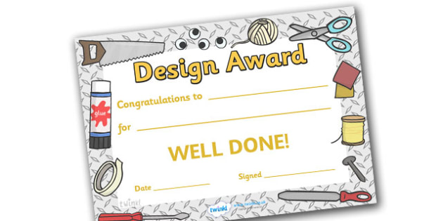 Design Award Certificate - design award certificate, design, designing, draw, creative, creativity, technology