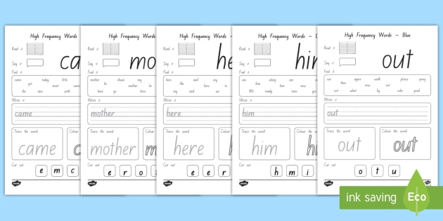 High Frequency Words Worksheet / Worksheets - high frequency ...