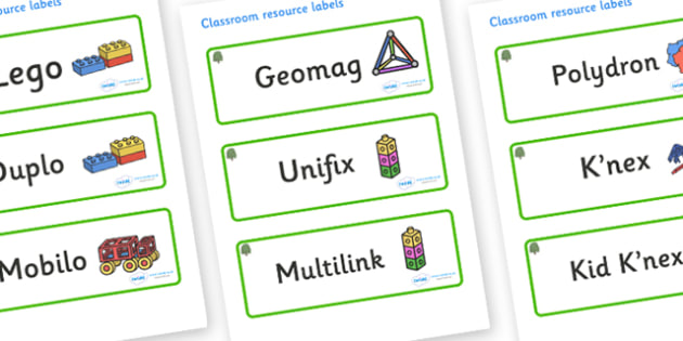 Willow Themed Editable Construction Area Resource Labels - Themed Construction resource labels, Label template, Resource Label, Name Labels, Editable Labels, Drawer Labels, KS1 Labels, Foundation Labels, Foundation Stage Labels