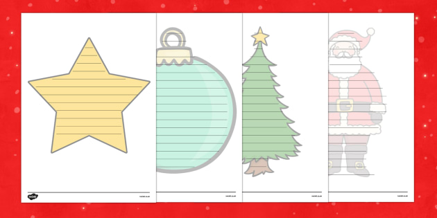 Christmas Editable Shape Poetry Writing Template