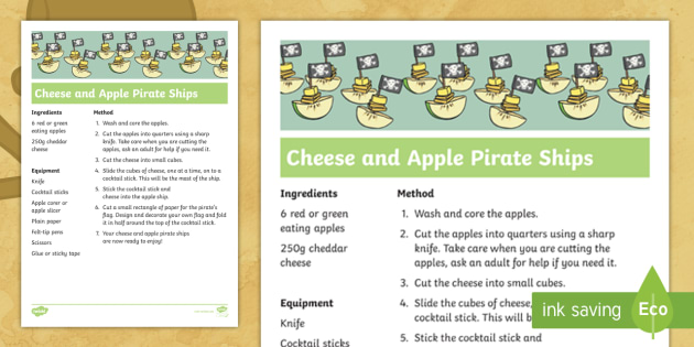 Cheese And Apple Pirate Ships Recipe Step By Step Instructions