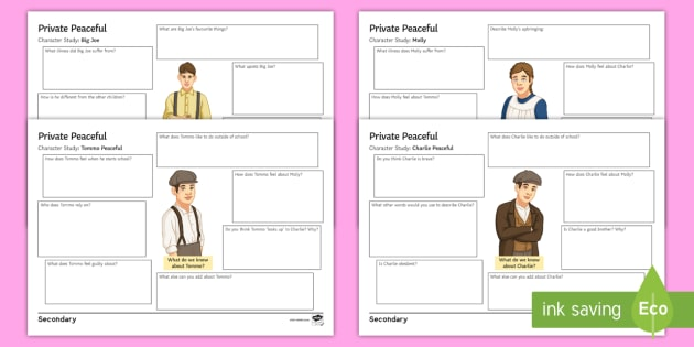 Private Peaceful Characters | GradeSaver