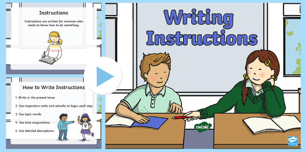 Writing Instructions Powerpoint Priority Resources Success
