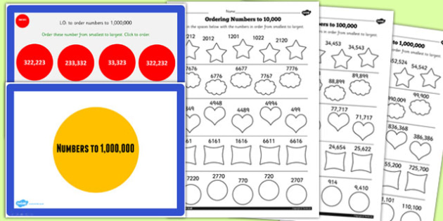 Year 5 Numbers to 1000000 Lesson 4 Teaching Pack - numeracy, KS2