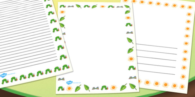 page borders to support teaching on the very hungry caterpillar australia hungry caterpillar