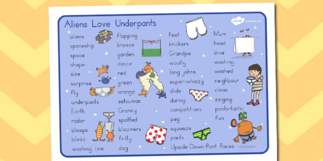 Word Mat Text to Support Teaching on Aliens Love Underpants - australia, aliens, underpants